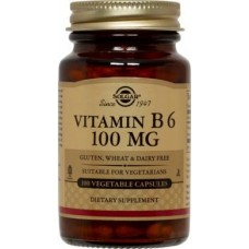 Vitamin B6 100mg, 100 veg caps