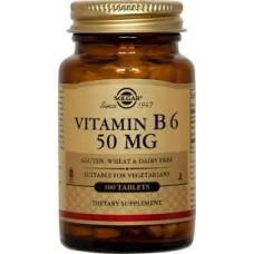 Vitamin B6 50mg, 100 Tablets